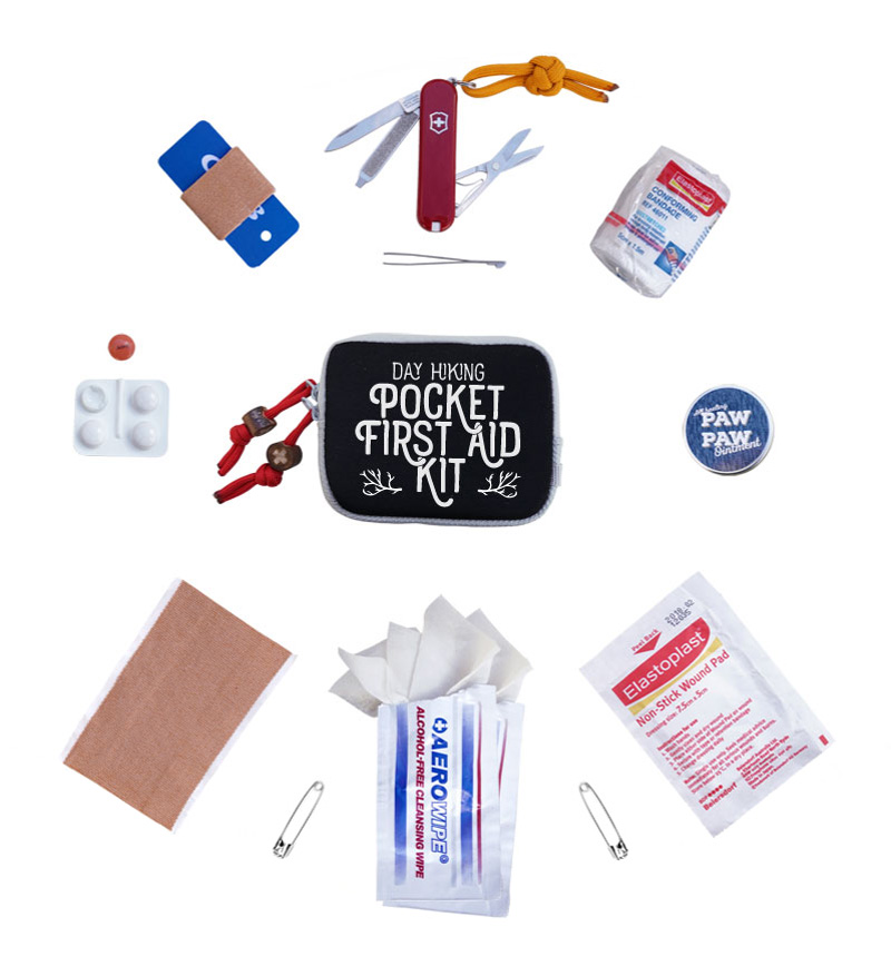 day hiking pocket first aid kit