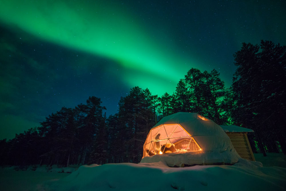 8 Dome Cabins and Tents - Harriniva Aurora Dome