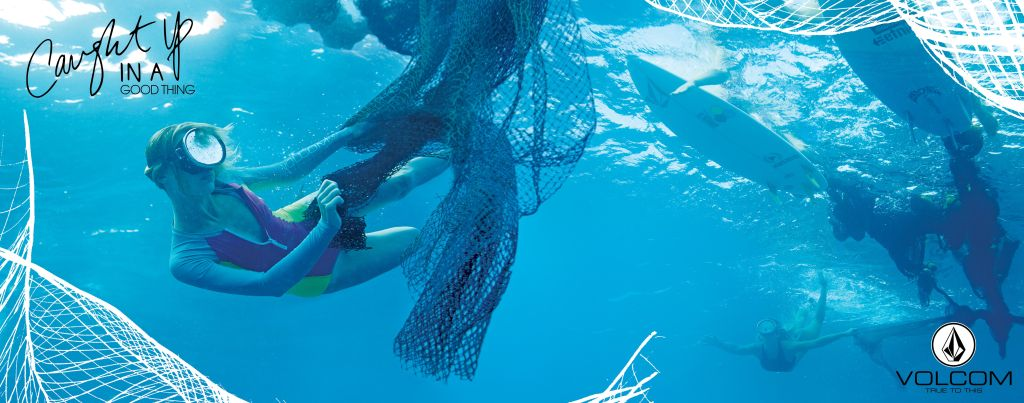 Gear made from Fishing Nets - Volcom x ECONYL -Simply Solid Swimwear